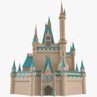Castle (Disney Style) 3D Model