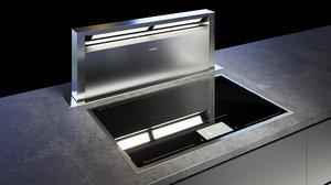 gaggenau cooktop 400 cx482110 3D model