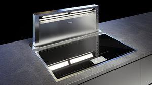 3D gaggenau cooktop 400 cx492110 model
