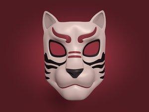 tiger mask 3D model