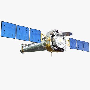 3D model chandra x-ray observatory spacecraft