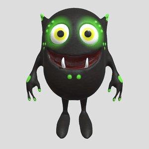 3D model goblin monster creature