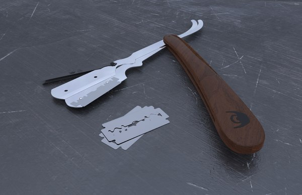 shaver razor interchangeable blades 3D model