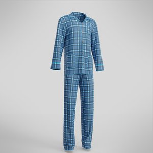 3D male pajamas garment