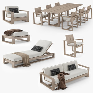 restoration hardware porto furniture 3D