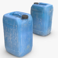 Low/High Poly Plastic Dirty JerryCan Vray