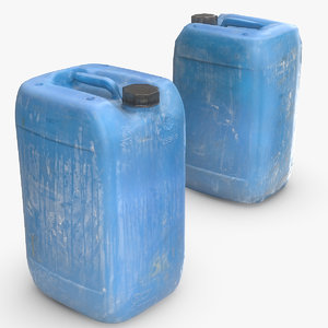plastic dirty jerrycan polys 3D