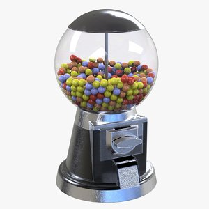 bubble gumball machine dispenser 3D model