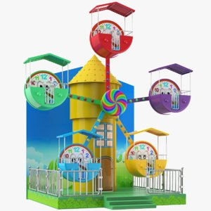 3D model kids ferris wheel