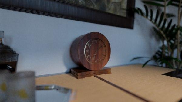 3D deco clock