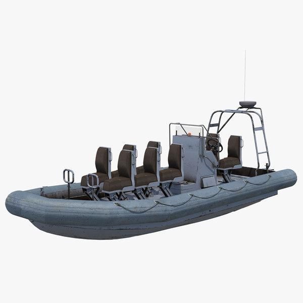 rigid rhib boat model