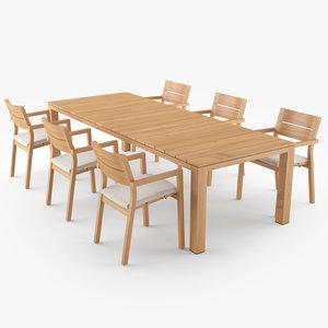 tribu kos dining table 3D model