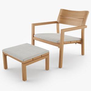 tribu kos easy chair 3D