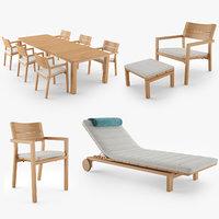 Tribu Kos Furniture Collection 3D Model