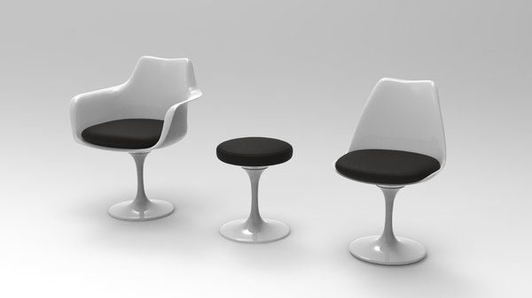 tulip chair eero saarinen 3D