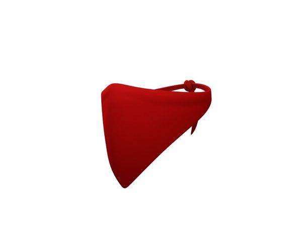 3D mask shawl scarf model
