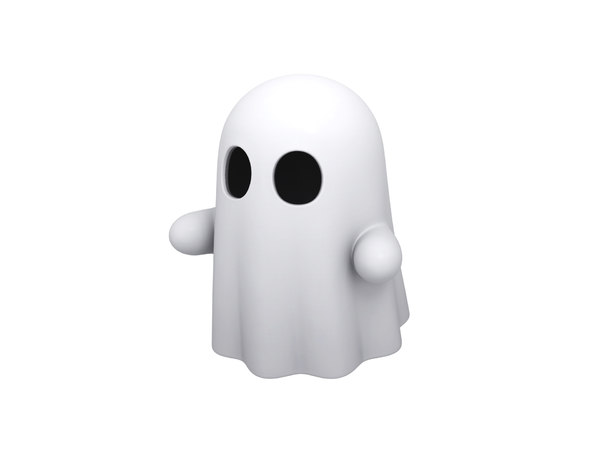 ghost cartoon 3D model