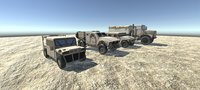 Low Poly Ground Vehicles Pack
