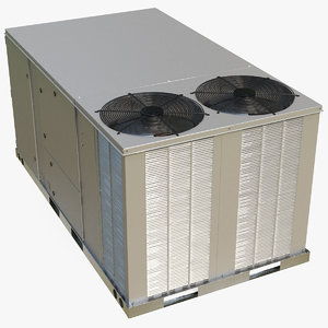 3D 2 vents rooftop air conditioning model