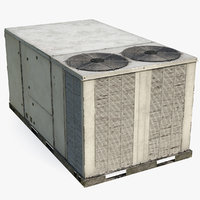 2 vents rooftop air conditioning 3D model