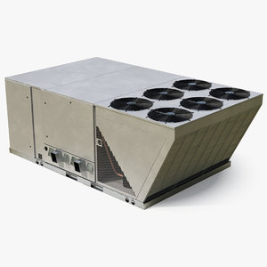 industrial rooftop air conditioning 3D model