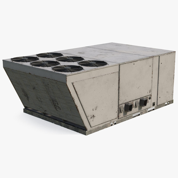industrial rooftop air conditioning 3D