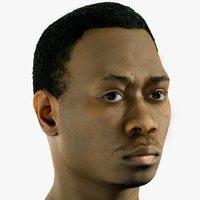 3D realistic 20s male head