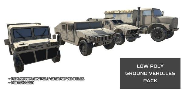 ground vehicles pack humvee 3D model