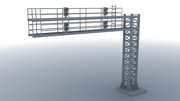 train signal gantry model