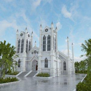 3D model church scene
