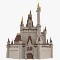 3D castle disney style model