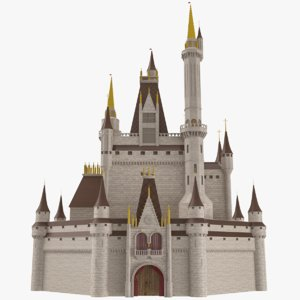 3D castle disney style model