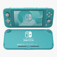 3D nintendo switch lite turquoise