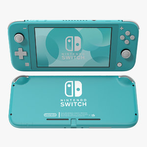 3D nintendo switch lite turquoise