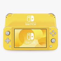 nintendo switch lite yellow 3D