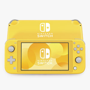 nintendo switch lite yellow 3D