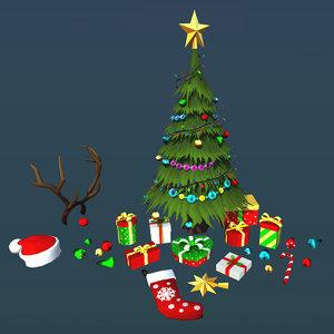 christmas gift stuff 3D model