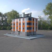 3D model storey building