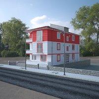 3D storey building model
