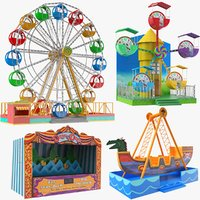 real theme park games model
