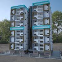 storey building 3D model