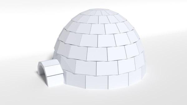 igloo cartoon 3D