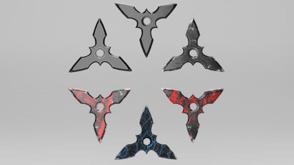pbr shuriken 3D model