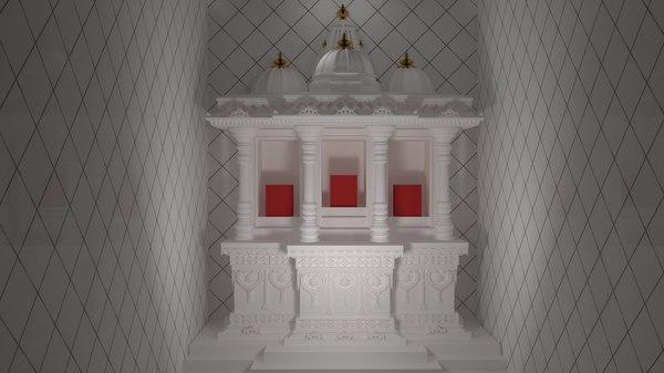 3D model small temple