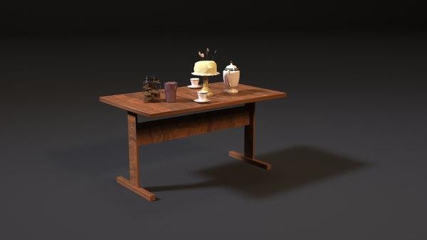 ussr table 3D model