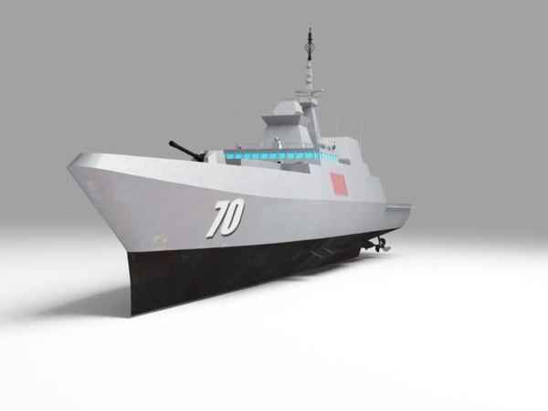 rss steadfast frigate 3D model