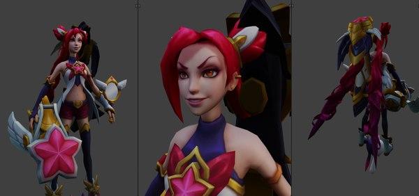 3D jinx rigged model