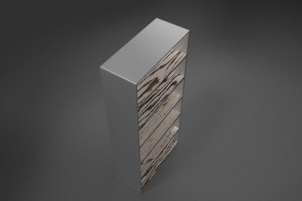 3D filing shelve modeled model