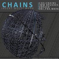 set chains brush 3D