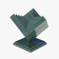 3D modern sculpture b aventurine model
